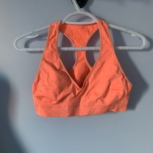 Under armour orange sports bra size large